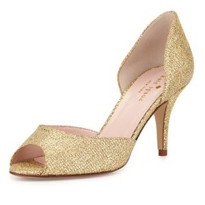 Kate spade New York Gold glitter shoes
